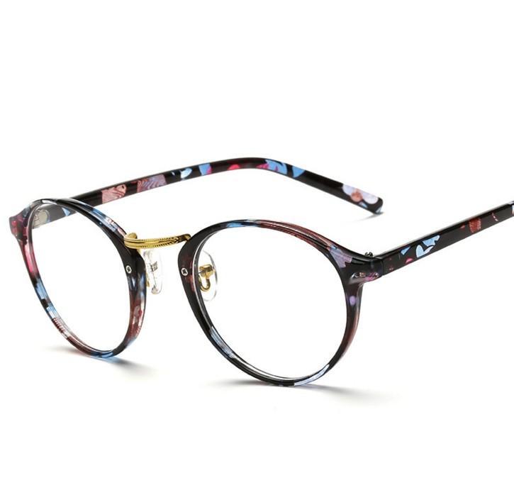 60d8019936 Wholesale- N66 Vintage Brand Design Plain Men Women Glasses Round Eyeglasses  Optical Frame Retro Oculos De Grau Femininos Gafas Designer Optical Frames  ...