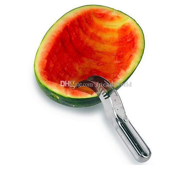 New arrival Hot Watermelon Knife Cutter Slicer Corer Server Scoop Kitchen Tool Fruit Knife Splitter Slicer Cutter