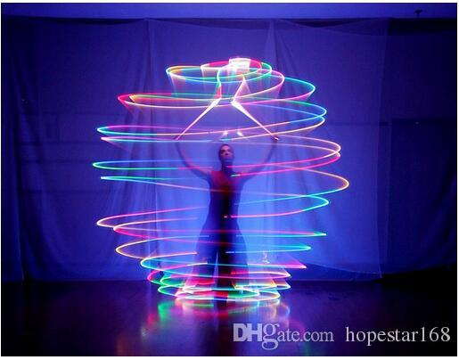 Christmas Fashion LED Hand Props Women Led Poi Thrown Balls for Accessories Hand Belly Dance Props Aoto Color