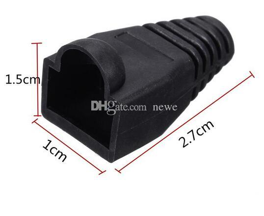 Black Boot Cap Plug Head For RJ45 Cat5/6 Cable Connector Modular Network