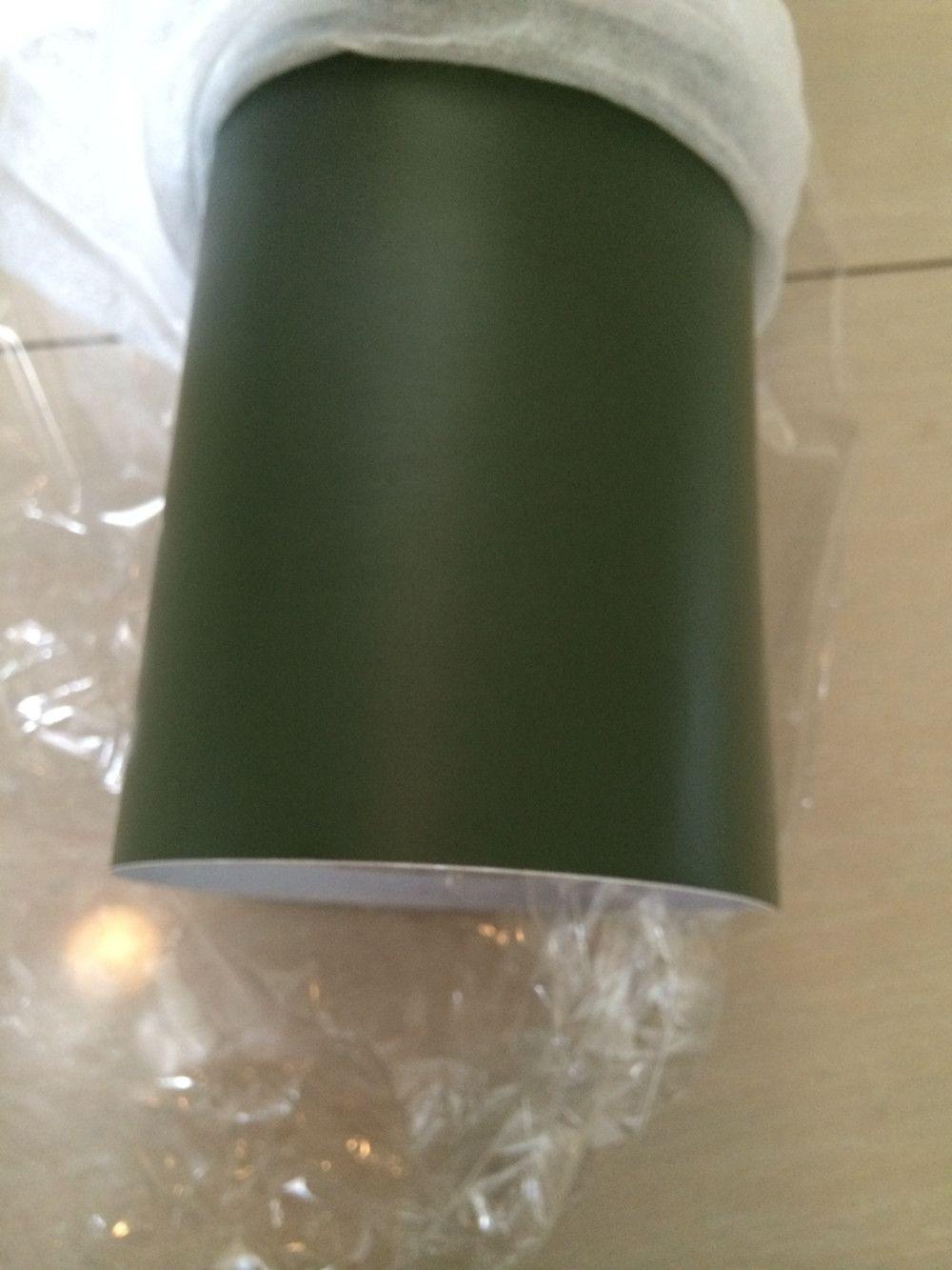 エアーバブルのミリタリーグリーンマットビニールラップフリーマットアーミーグリーンカーラップステッカーフィルムフォイルサイズ1.52x30m /ロール4.98x98FT