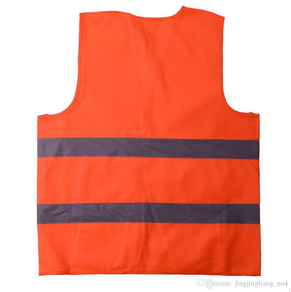 Sicurezza Sicurezza Visibilità Giubbotto riflettente Verde Arancione Giubbotto di sicurezza Sicurezza delle costruzioni Gilet da lavoro Giubbotti da traffico OOA2970