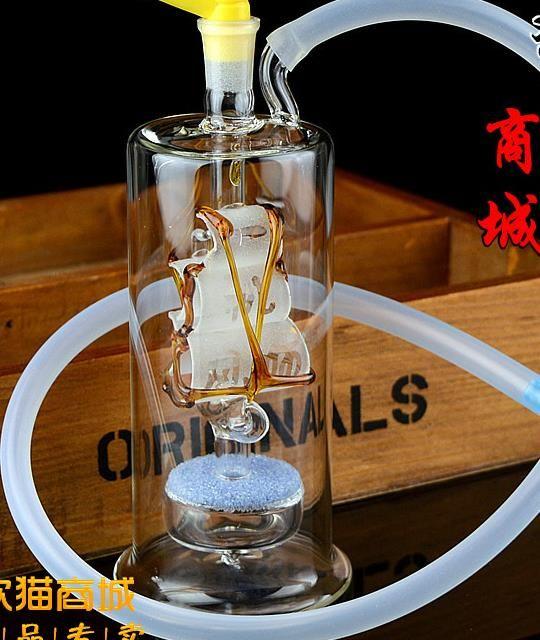 Nuovo narghilè in vetro muto barche a vela, bong in vetro, tubo dell'acqua in vetro, pipa fumare