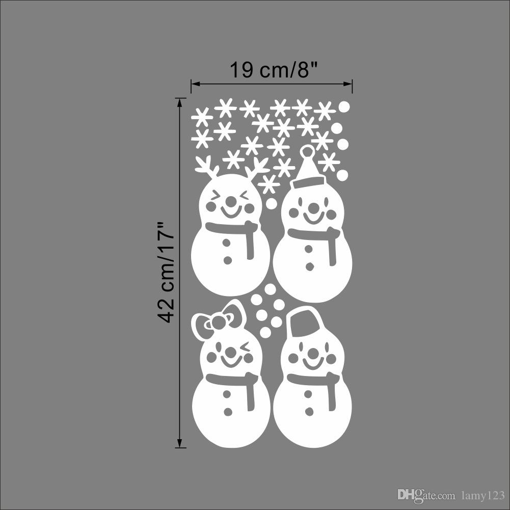 Wholesale Happy New Year Santa Claus Christmas Wall Stickers Home Window Glass Decorations PVC Waterproof Removable Wall Decor Wallpaper