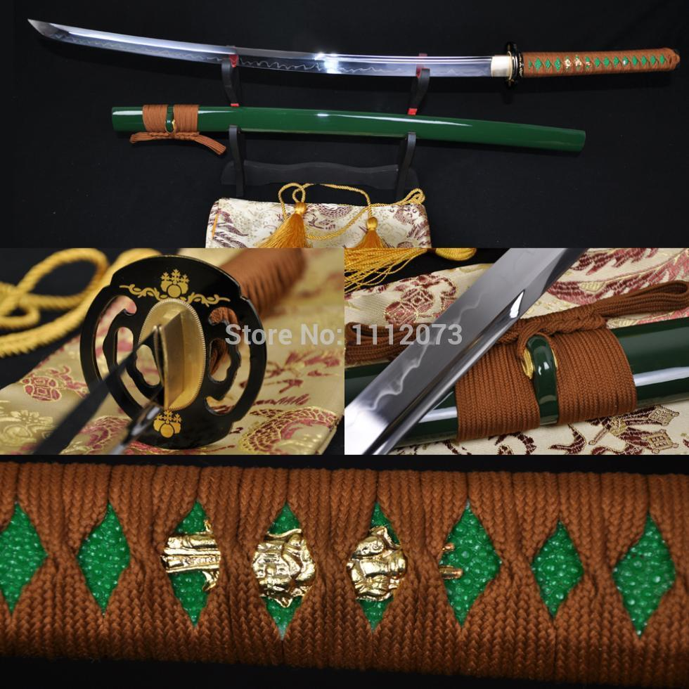 JAPANESE KATANA Clay Tempered UNOKUBI-ZUKURI Blade SHARP Sword
