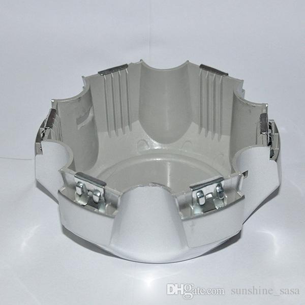 Lega toyota Land Cruiser Mozzo ruota centrale Coperture copri-motore FIT: Toyota 92 -98 00-08 Land Cruiser Prado 2.7L SILVER FJ80 6 alette