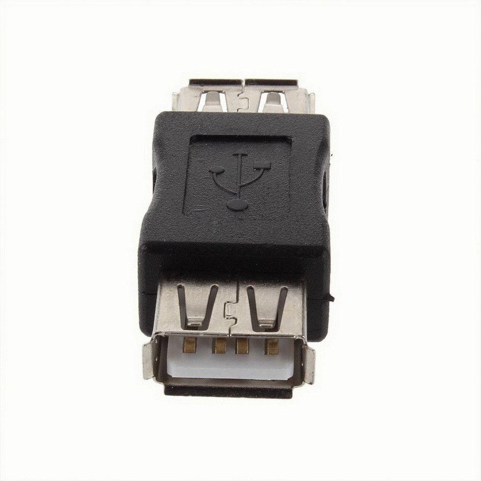 USB 2.0 Tipo A Hembra a A Hembra Adaptador Adaptador Conector F / F Convertidor de Marca Más Nuevo al por mayor