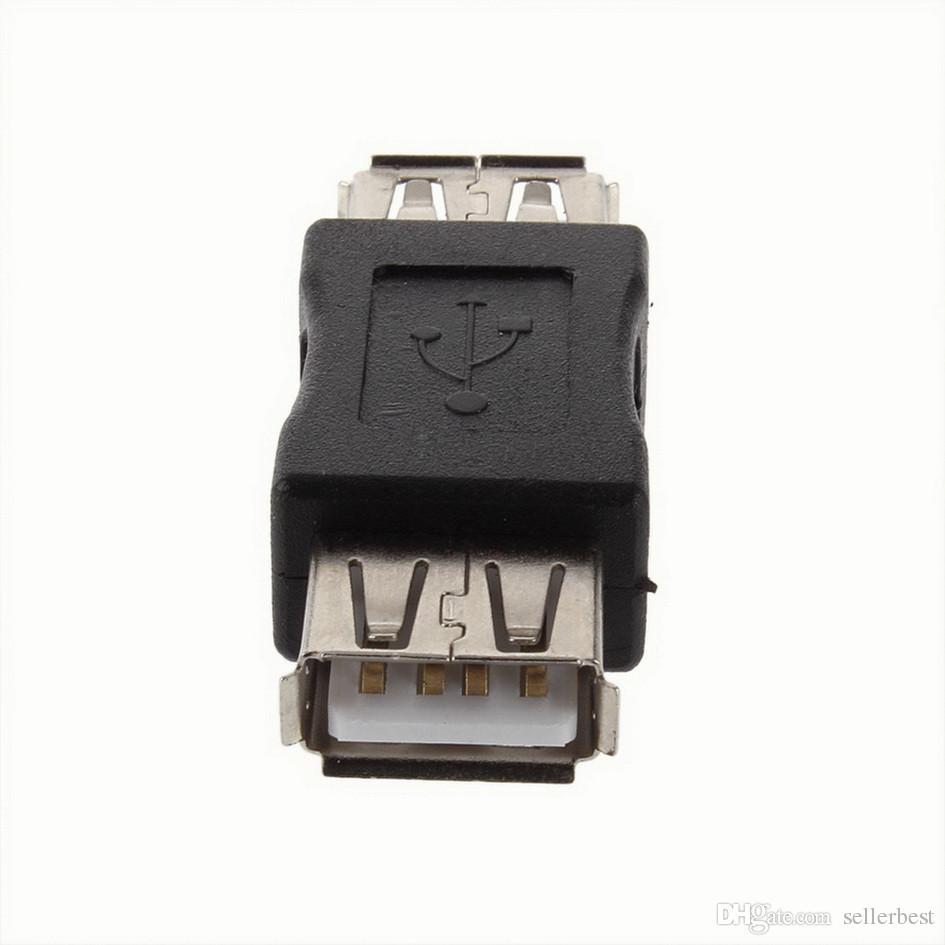 USB 2.0 Typ A Buchse auf eine Buchse Koppler Adapter Stecker F / F Konverter Marke Neueste Großhandel