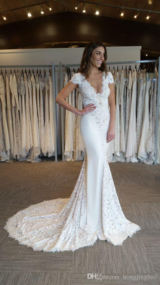 großhandel berta bridal lace mermaid brautkleid 2017 nach maß