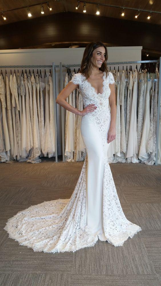 71f906c30626 Berta Bridal Lace Mermaid Wedding Dress 2017 Custom Made Applique Vestidos  De Novia Bride Gown Affordable Lace Wedding Dresses Beautiful Cheap Wedding  ...