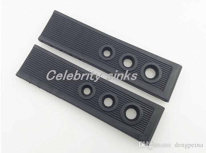 22mm Men's New Black High Quality Diver Silicone Rubber Watch Band Strap For Breitling Watch