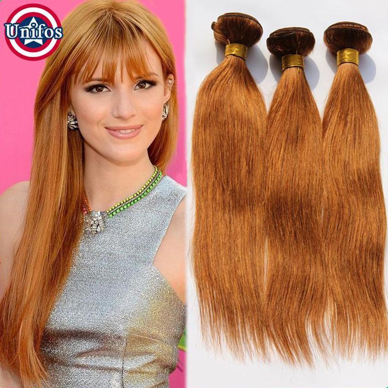 Auburn Brazilian Straight 30 Light Auburn Hair Extensions Brazilian