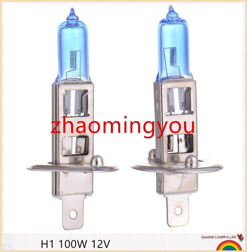 Halogen Lights H1 100w 12v Bulb Super Xenon White Fog High Power Car Headlight Lamp Light Source Parking Auto With As