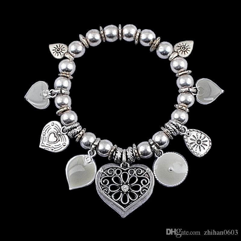 drop shipping ccb bead stretch bracelet Fashion Jewelry Accessories alloy bracelets factory direct,