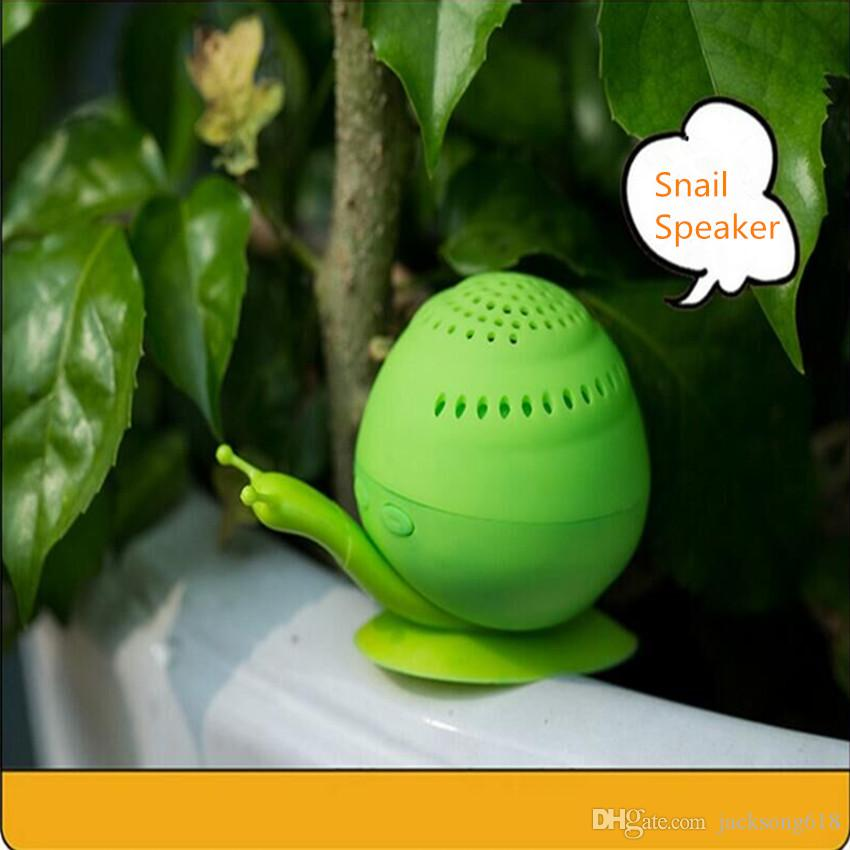 Newest Snail Bluetooth Speaker Mini Wireless Novelty with Cell Phone Holder Bluetooth Speaker Sound box Wholesales