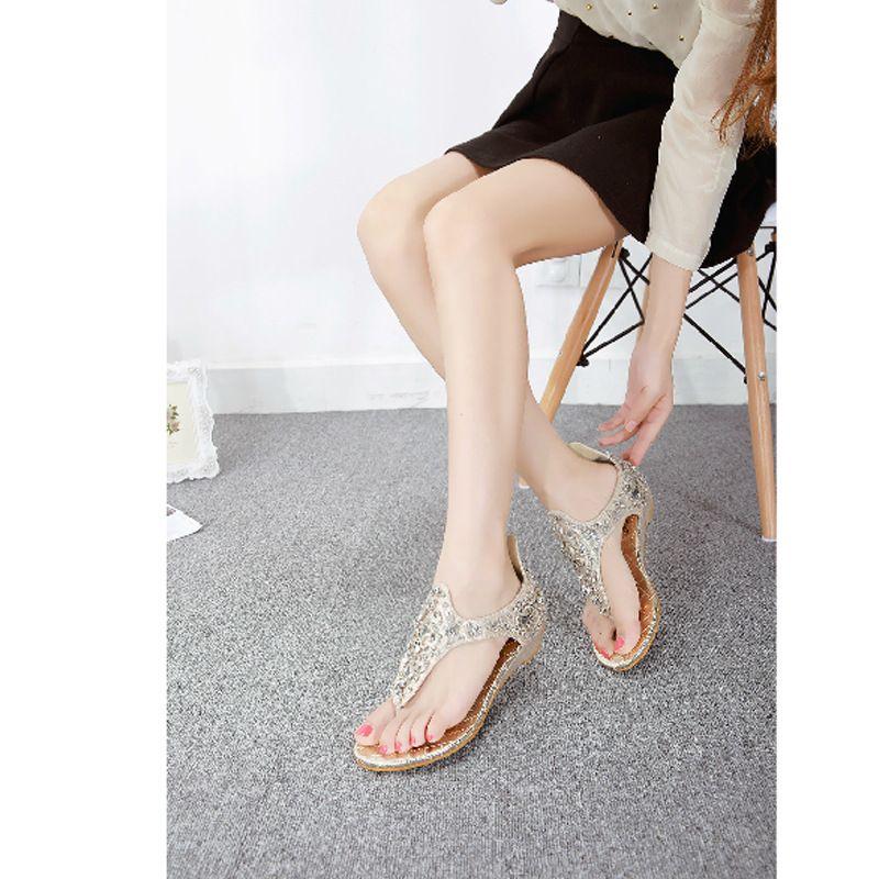 8ee46ad0f14f78 NEW Brand Designer 2015 Summer Rome Vintage Flip Flops Fashion Rivet Women  Flat Sandals Women Comfortable Slippers Size 35 41 Comfortable Shoes  Discount ...