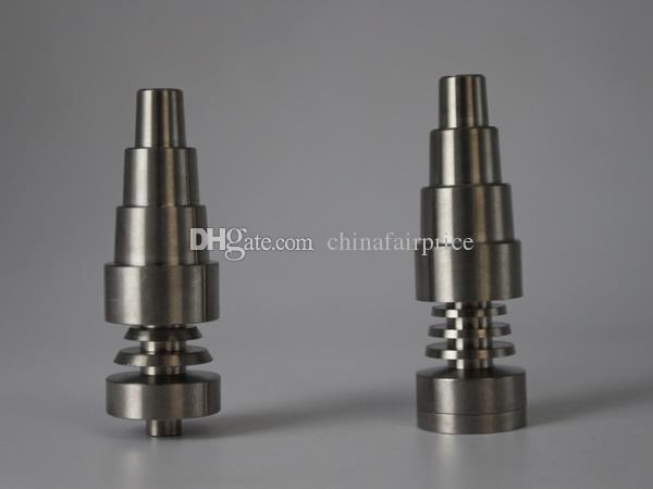 6 в 1 Domeless Titanium Nail Titanium GR2 ногти совместных 10 мм 14 мм 19 мм регулируемая Ti ногтей для буровых установок стекла воды бонги