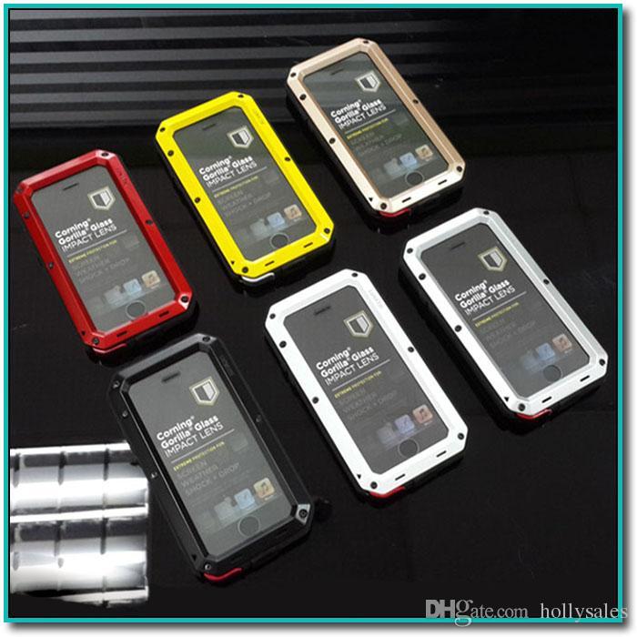 Для iphone xr xs max S10 S9 PLUS металлический корпус алюминиевый сплав металлический закаленное стекло чехол ударопрочный водонепроницаемый устойчивый кейс доставка DHL