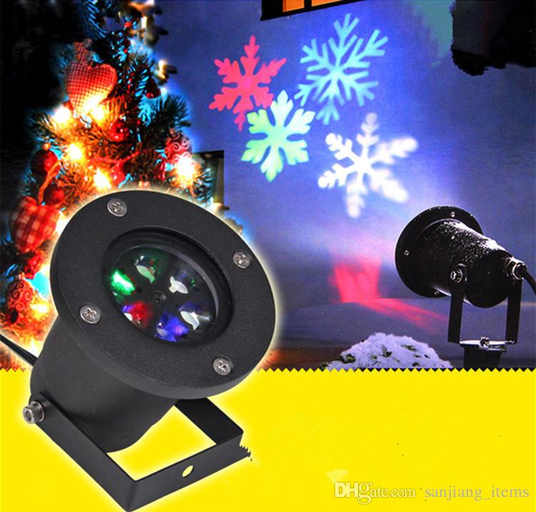 Outdoor Christmas LED Projector Automatically Garden LED light Moving Snowflake Spotlight Lamp Festival Party Decorations Projector NEW
