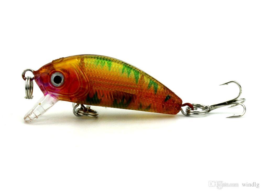 GroßhandelsSwimbait Fischereiköder 5CM 3.6G 10 # Haken Angelgerät Köder für Forellen Klassischen Elritze Bass Hartplastik japan Carbon Haken