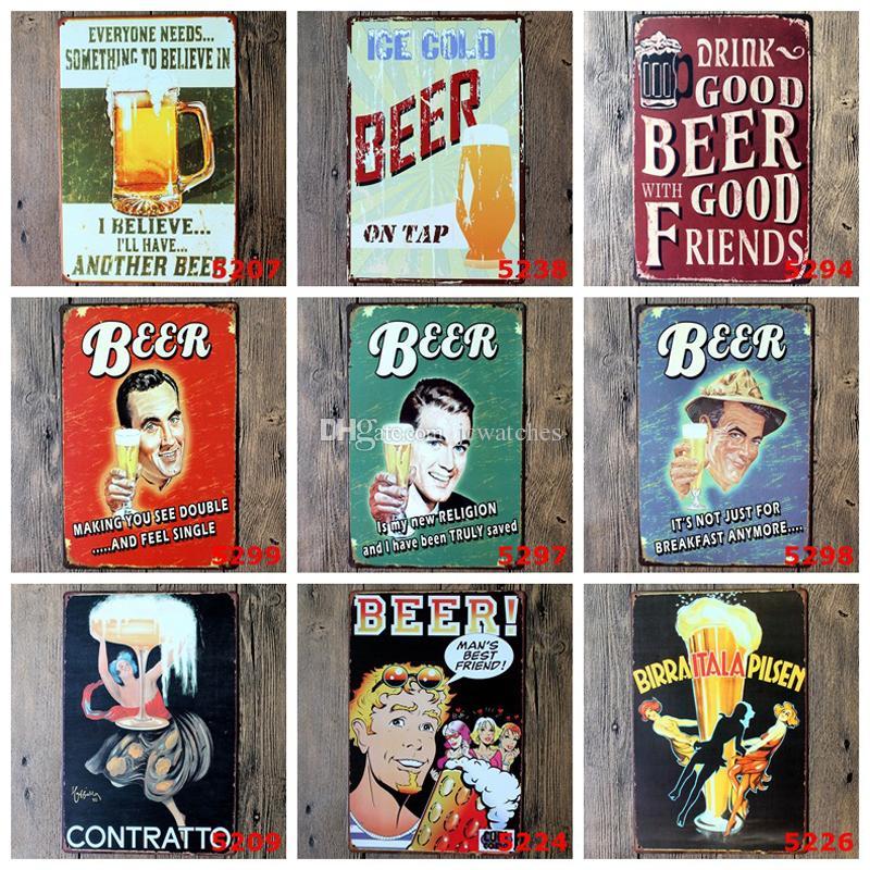 En Métal Signe En Métal Art Affiche Home Decor Maison Café Vintage Bar signes Mur Décor Rétro En Métal Art Affiche Mix Couleurs 20 * 30 CM