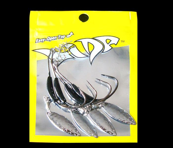 4 Pieces/Bag Fishing Lure Soft Worm Jig Mould Hook Spinner Buzz Bait 3g 5g  8g Lead Weight