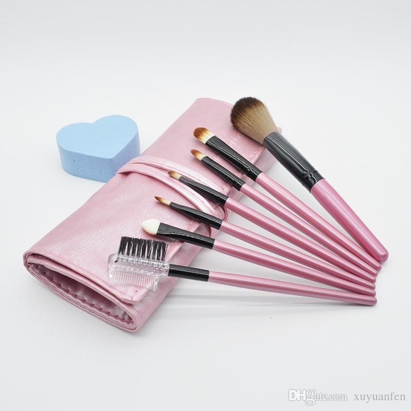 Pinceaux de Maquillage Set Outils Trousse de Toilette Trousse de Toilette Laine Marque Make Up Brush Set Cas Cosmétique Fondation Brosse