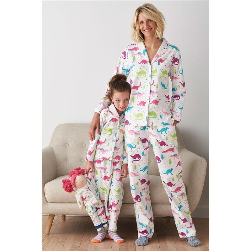 retail family matching christmas pajamas dinosaur christmas family pjs mother and daughter son matching family set white family christmas pajamas dinosaur