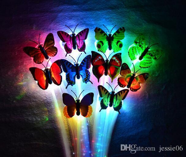 LED-Blitz Schmetterling Faser Zopf Party Tanz beleuchtete Leuchten leuchtende Haarverlängerung Rave Halloween Dekor Weihnachten festliche Gunst