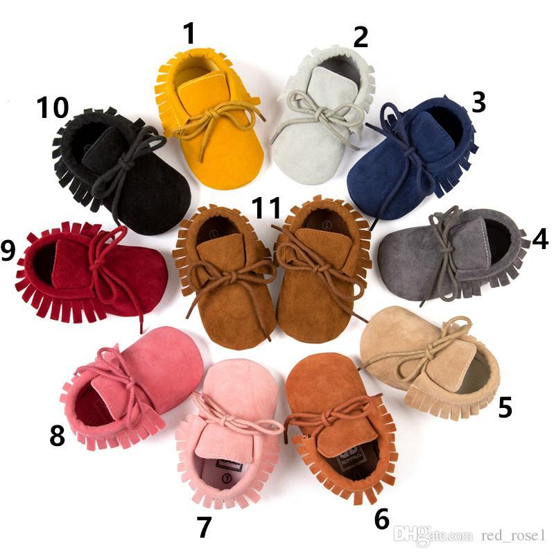 Baby eerste wandelaars lente herfst baby kinderen matte textuur handleiding kwastje zachte bodem schoenen babyschoen
