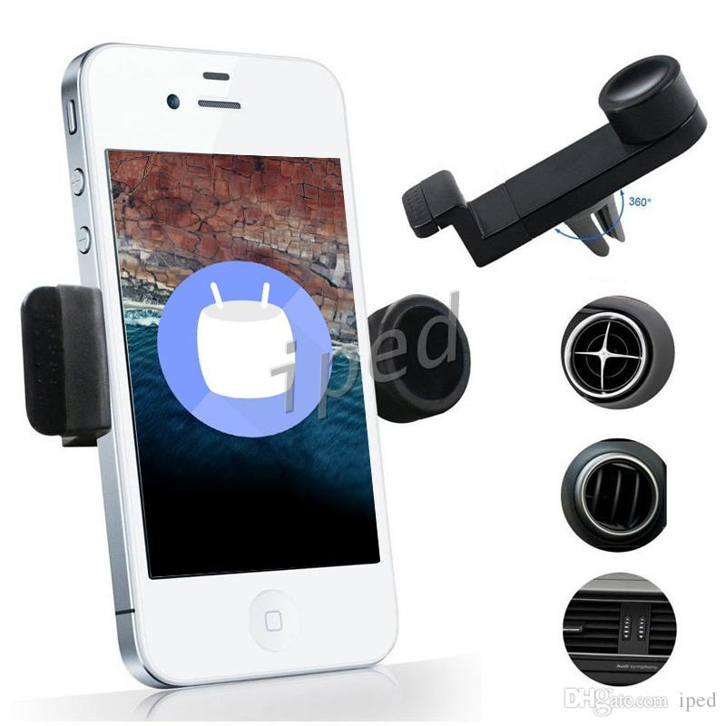 Universal Portable Car Air Vent Mount Mobile Phone GPS Holder Frame 360 Degree Rotating for iPhone 7 Plus i8 s8 smart phone with package