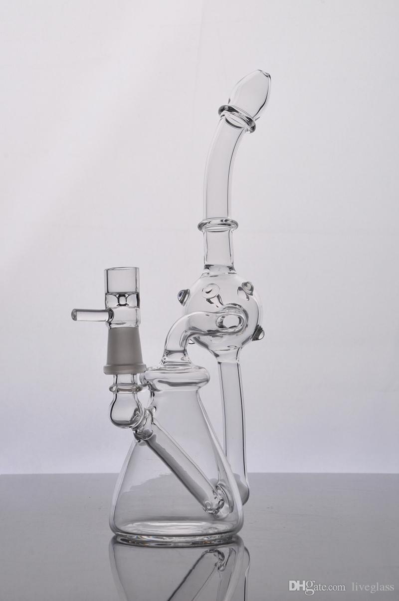 Новые курительные стеклянные трубы мазки перколятор спираль водопровод и стеклянные бонги утилизация яйцо Бонг
