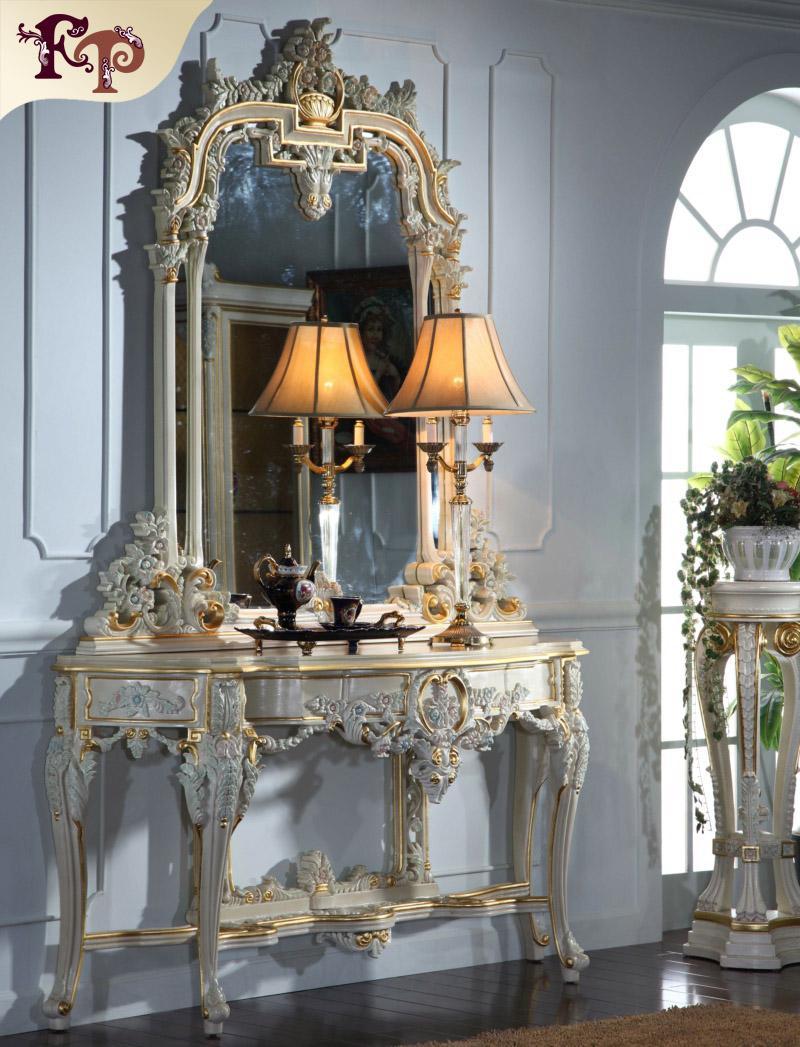 Compre Muebles De Estilo Rococ Francés Villa Soild Hoja De Oro ...
