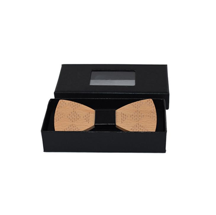 Black Gift Boxes For Necktie Package / Bow Ties Presentation Box /Bow Ties Gift Packing