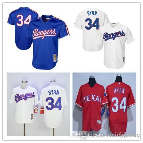 be36b010ecd ... Texas Rangers 34 Nolan Ryan Jersey Men 7 Majestic Fashion Baseball Jerseys  Cool Base Team Color ...