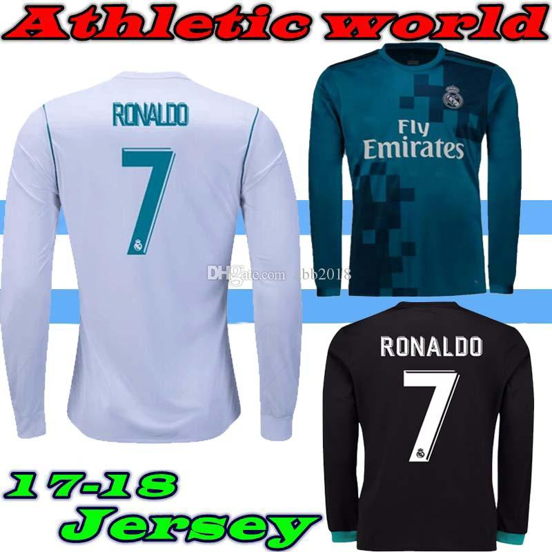 2019 2017 18 Real Madrid Home Third Jersey 17 18 Ronaldo ASENSIO Soccer  Team 2018 Champions League Fans Long Sleeves Football Clothes From Abb2018 82a2e6734