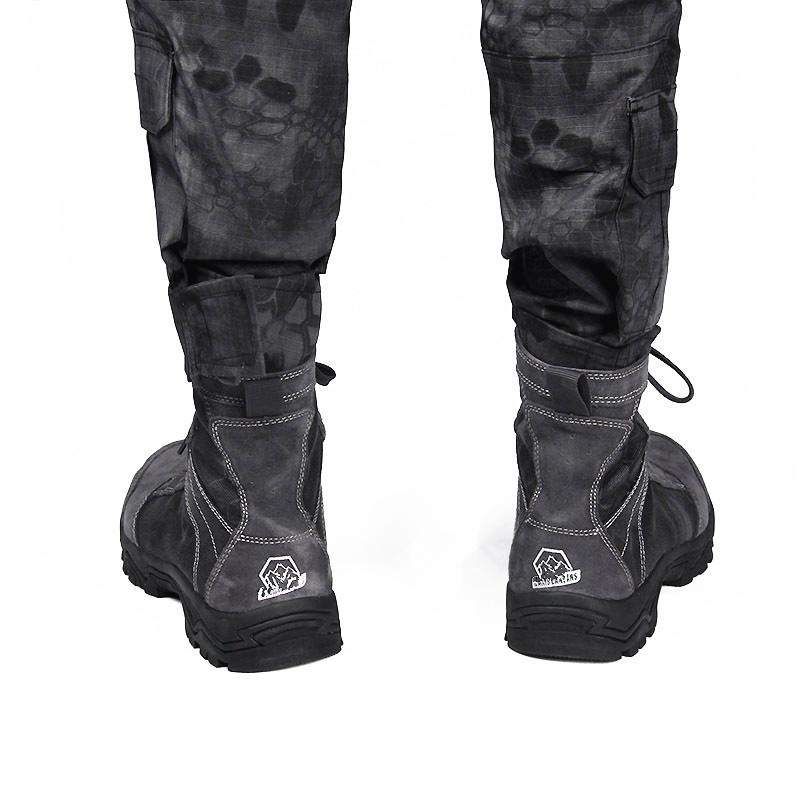Nova Moda do Exército de Couro de Vaca Deserto Tático Ankle Boots, Caminhadas na Montanha Quente respirável Resistente Ao Desgaste-Botas de Combate Sapatos para Venda
