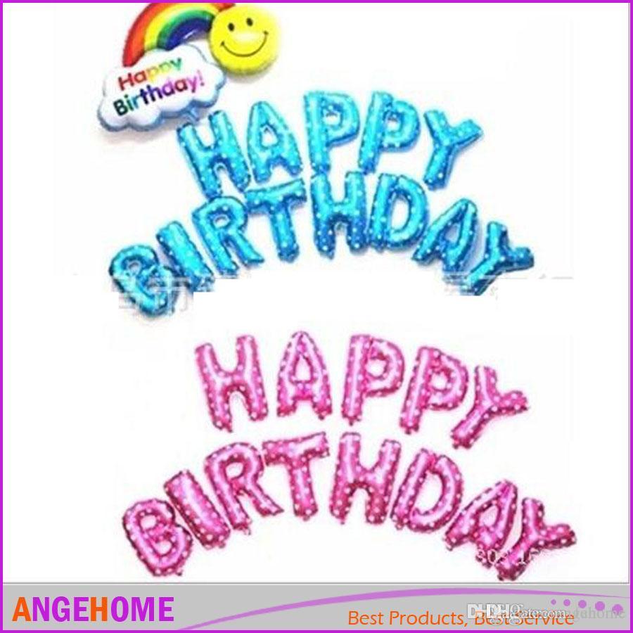 16 Inch Colorful Alphabet Helium Aluminum Foil Balloon 26 Letters ...