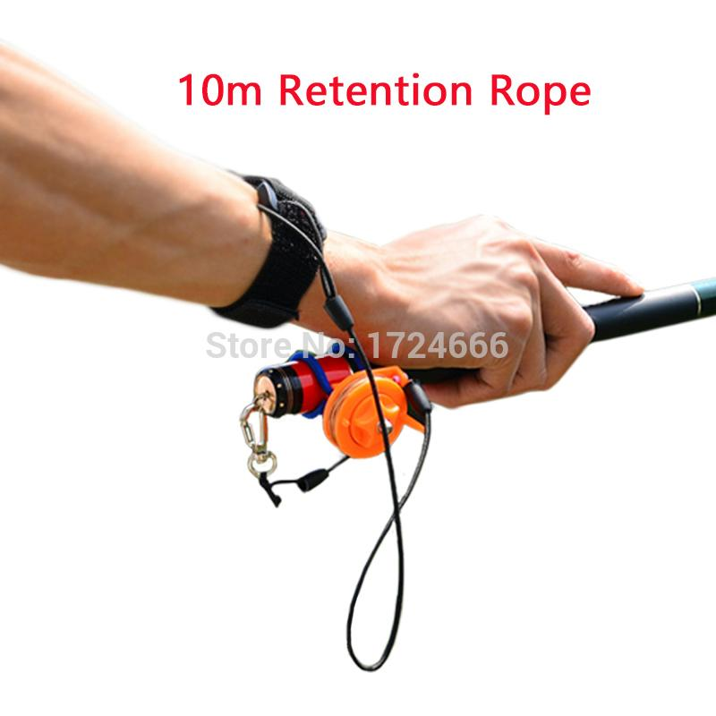 Wonderful 10m Portable Fishing Retention Rope Retractable Pesca Rope Tackle Fishing  Rod Leashes With Elastic Wrist Band Fishing Rope Fishing Retention Rope  Wrist ...