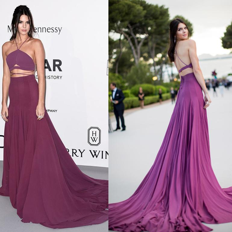 Kendall Jenner Prom Dresses Red Carpet Celebrity Dresses Oscar