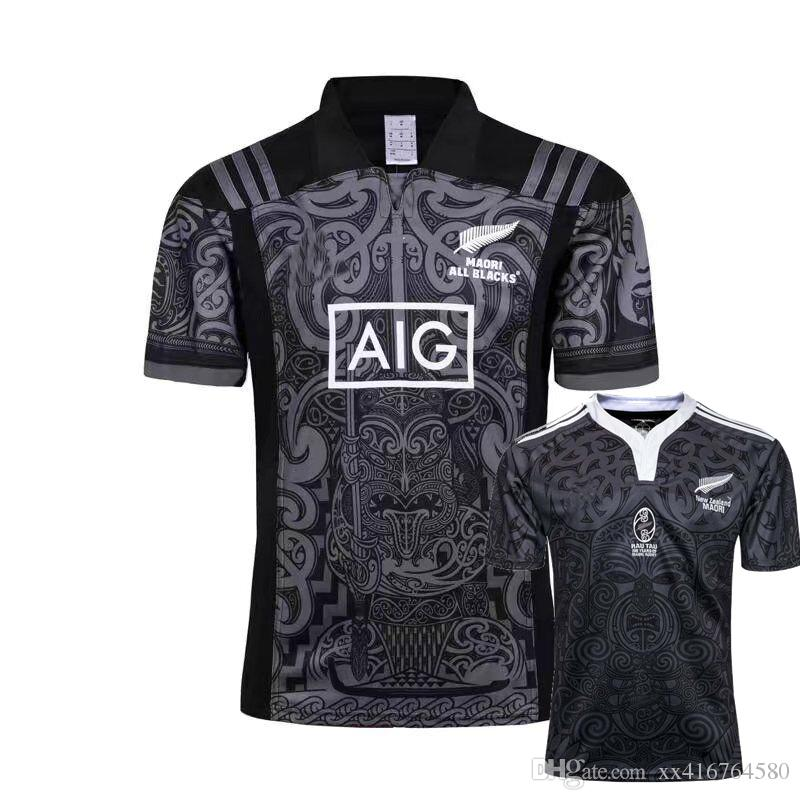 fc0b1e502 2019 NEW 2017 2018 MAORI RUGBY Jersey 17 18 Top Thailand Quality Sports  Rugby Shirts RAU TAU 100 YEARS ALL BLACKS S 3x From Xx416764580