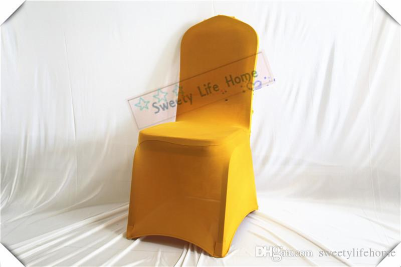 Ivory wedding spandex chair covers with 3D Satin rosette fabric wedding lycra chair covers