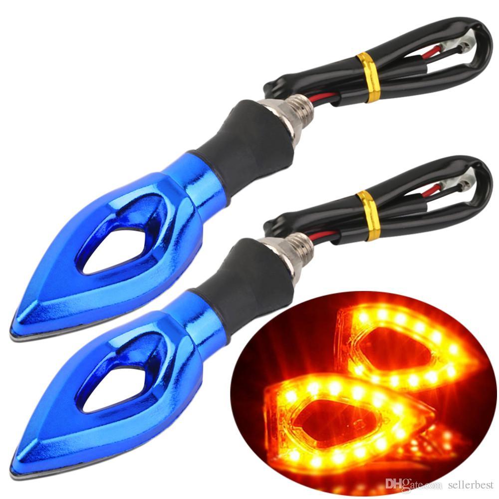 Indicatori di direzione / indicatori luminosi di giro del segnale di girata del motociclo della luce universale ambrata 12 LED impermeabili