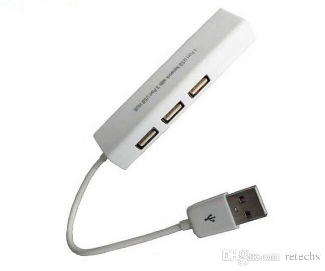 usb to rj45 ethernet with 3 Ports HUB CE Mark For macbook and ultrabook ios android Tablet pc Win 7 8 DHL