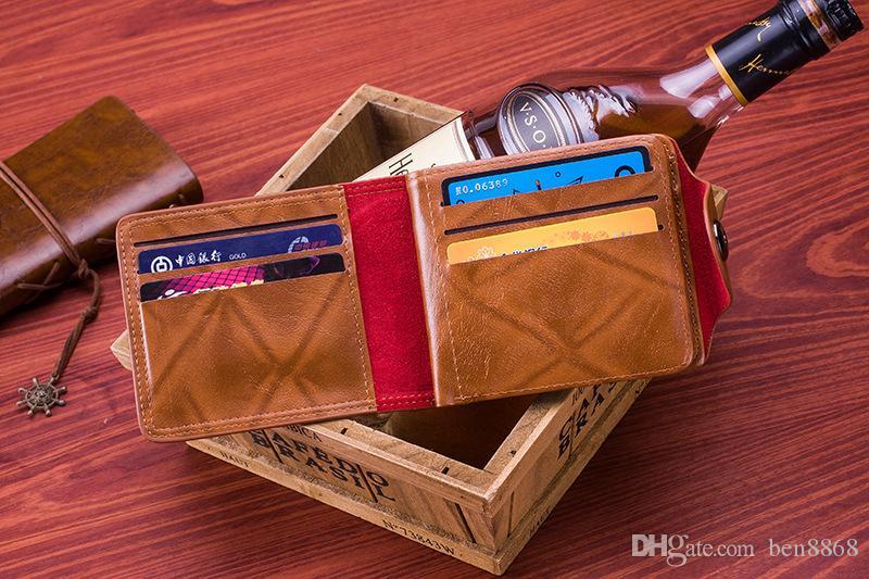 2016 mode hommes dollar porte-monnaie portefeuille mélange cuir designer créativité porte-cartes portefeuilles pour hommes mens portefeuille en gros