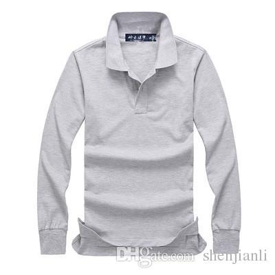 شحن مجاني 2017 الخريف والشتاء الجديدة ذات جودة عالية لعبة البولو أزياء الرجال قميص طويل الأكمام البولو للرجال عارضة قميص طويل الأكمام حجم S-XXL