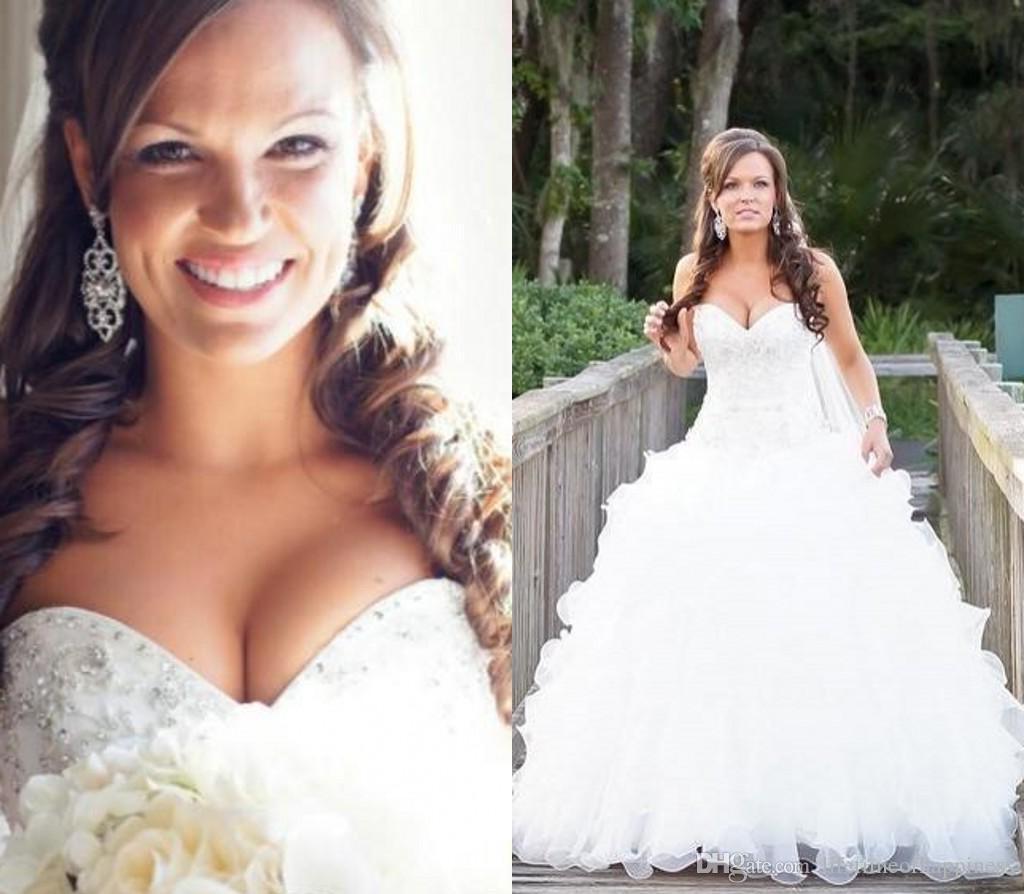 Discount 2016 Jewelry Sweetheart Wedding Dress Organza National