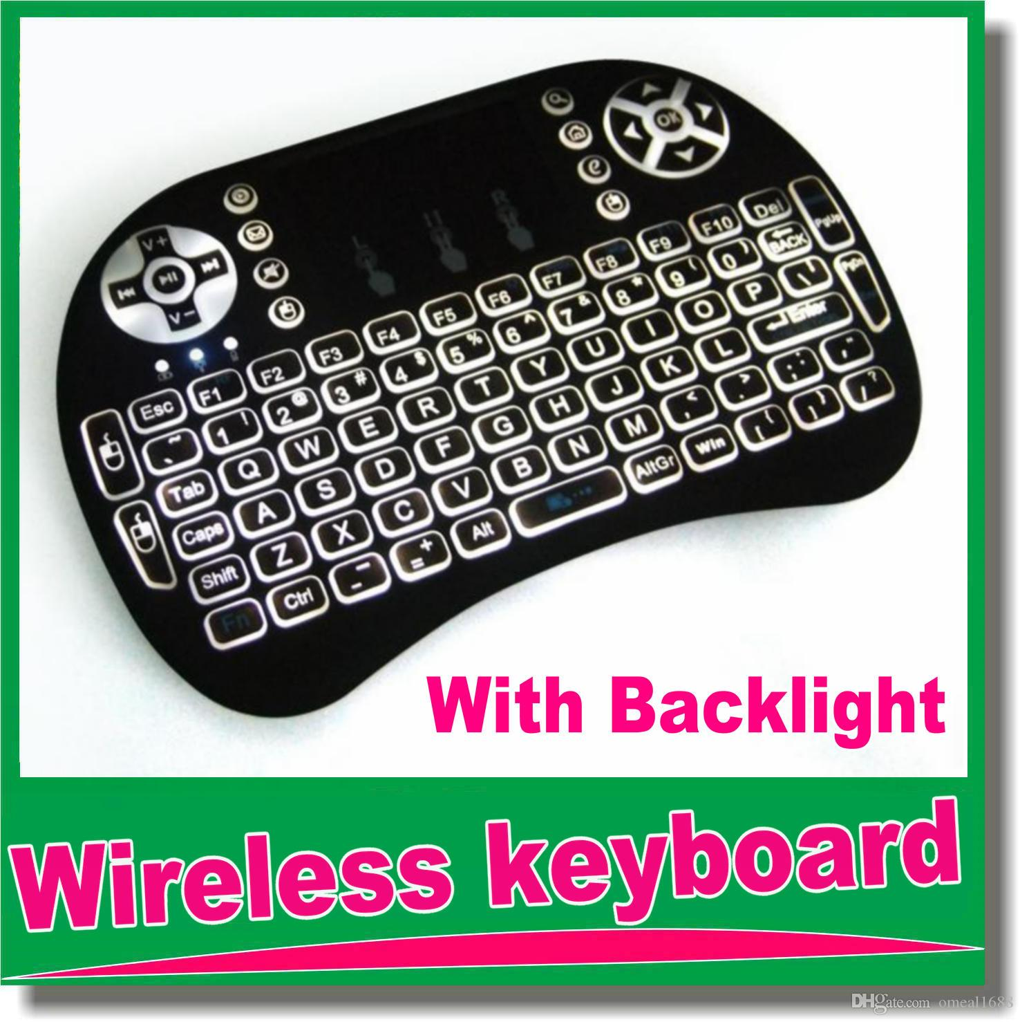 I8 Wireless Keyboards Black 2 4g Rf Mini I8 Wireless Keyboard Touch Pad Mouse Backlit Gaming Keyboard For Htpc Tablet Laptop Pc Om D5 A Keyboard Backlit