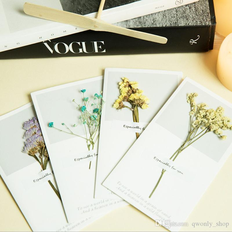 11 Styles Korean Dried Flowers Greeting Cards For