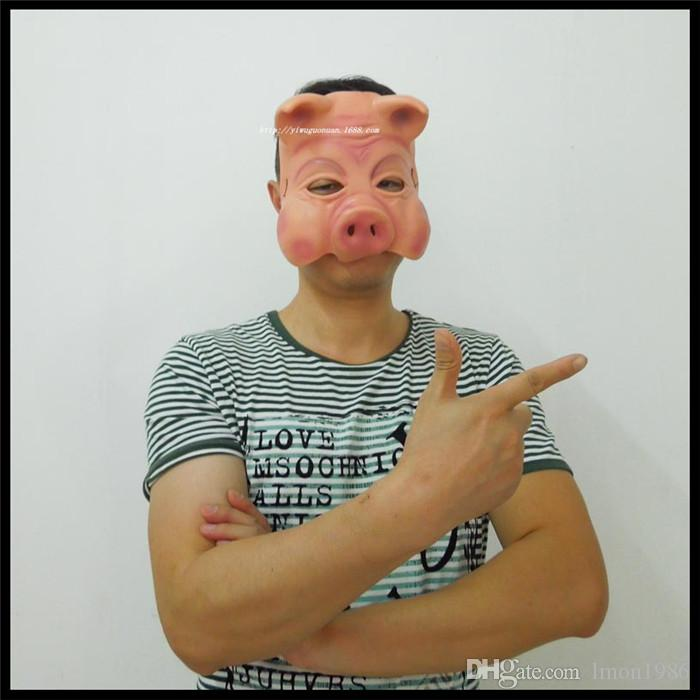 2016 Halloween Party Cosplay Pig mask latex masks cartoon mask animal pig eight quit to mask the simulation mask pig head pig face mask